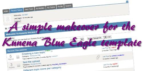 kun´ēzē} » Guide › Simple makeover for Kunena Blue Eagle