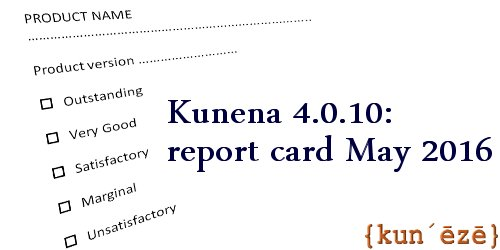 kun´ēzē} » Review › Kunena 4 0 10: report card May 2016