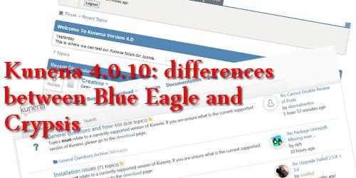 kun´ēzē} » Guide › Kunena 4 0 10: Blue Eagle vs  Crypsis